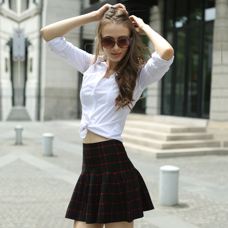 Aliexpress.com : Buy Veri Gude Spring Autumn Girls Plaid Skirt ...