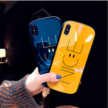 Protector Luxury Soft Back Phone Case for iPhone 6 7 8 Plus Silicon TPU Cases For XR XS Max Letter Nice Cover Capa