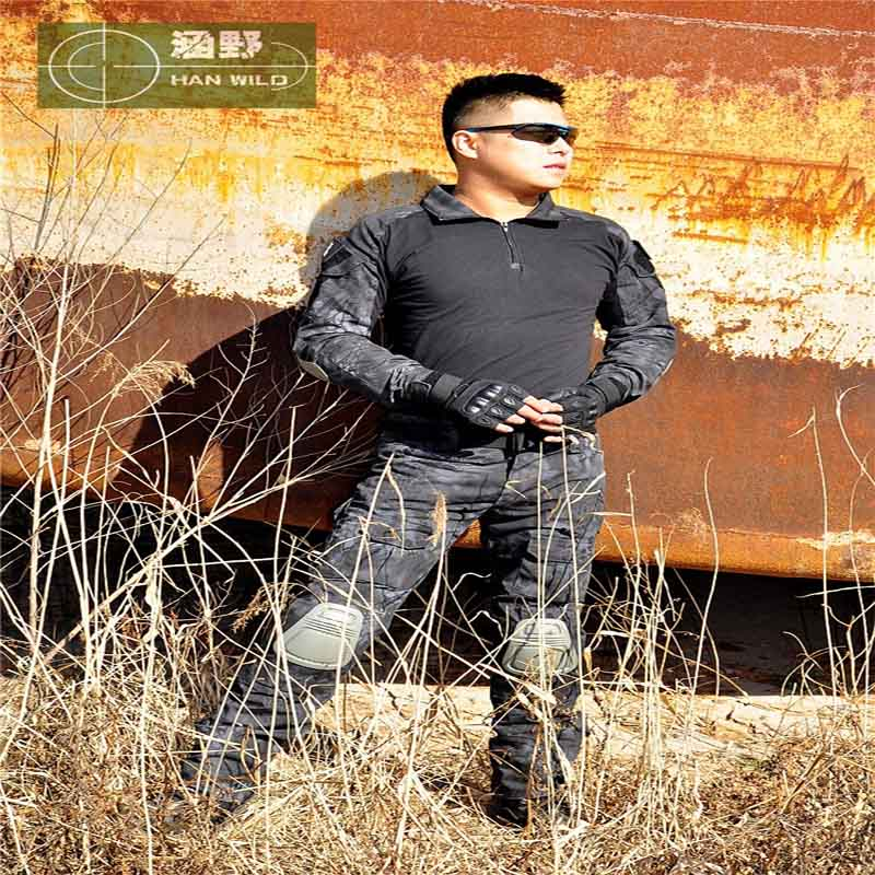 New Military Camouflage Army Unifrom Combat Shirt With Knee Elbow Pads Airsoft Sniper Tactical Suit Paintball Hunting Clothing mege tactical camouflage hunting military army airsoft paintball clothing combat assault uniform with elbow