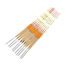 10 Pcs/Set Wooden Professional Fishing Float Buoyancy Buoy Floating Reed Luminous Fluorescent Stick Tackle Accessories