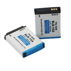 Image 1 - 2 יחידות SLB 10A SLB 10A SLB10A מצלמה סוללה עבור סמסונג SL102 SL202 SL420 SL620 SL820 HZ10W HZ15W ES55 L100 L110 l200 L210 L310W