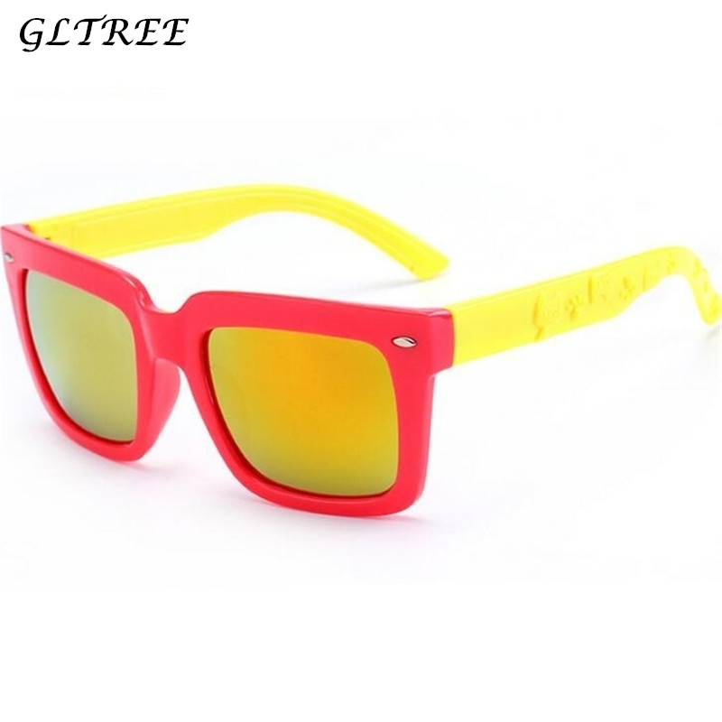 Boy's Accessories Gltree Cute Sunglasses Boys Girls Baby Infant Brand Square Sun Glasses 100% Uv400 Eyewear Child Red Glasses Oculos Eyewear G114