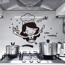 Wall Stickers Fridge Stickers Wardrobe Decoration PVC Wall Decals/Adhesive Kitchen Light Switch Sticker Cook Vinyl Wall Decal(China)