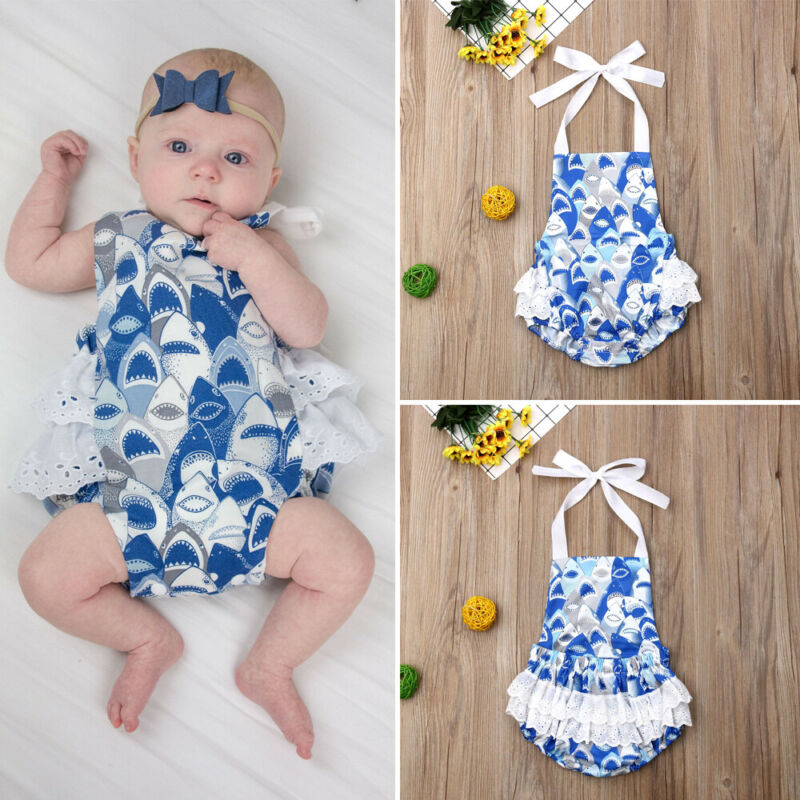 Newborn Toddler Baby Girl Bodysuit Romper Jumpsuit Sunsuit Outfit Clothes Summer