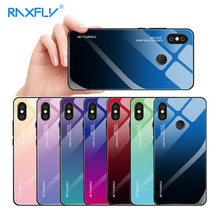 RAXFLY Gradient Tempered Glass Case For Xiaomi Redmi Note 7 6 Pro 5 K20 Pro Phone Cases For Xiaomi Mi 9 Se 9T Pro 8 Lite Cover(China)