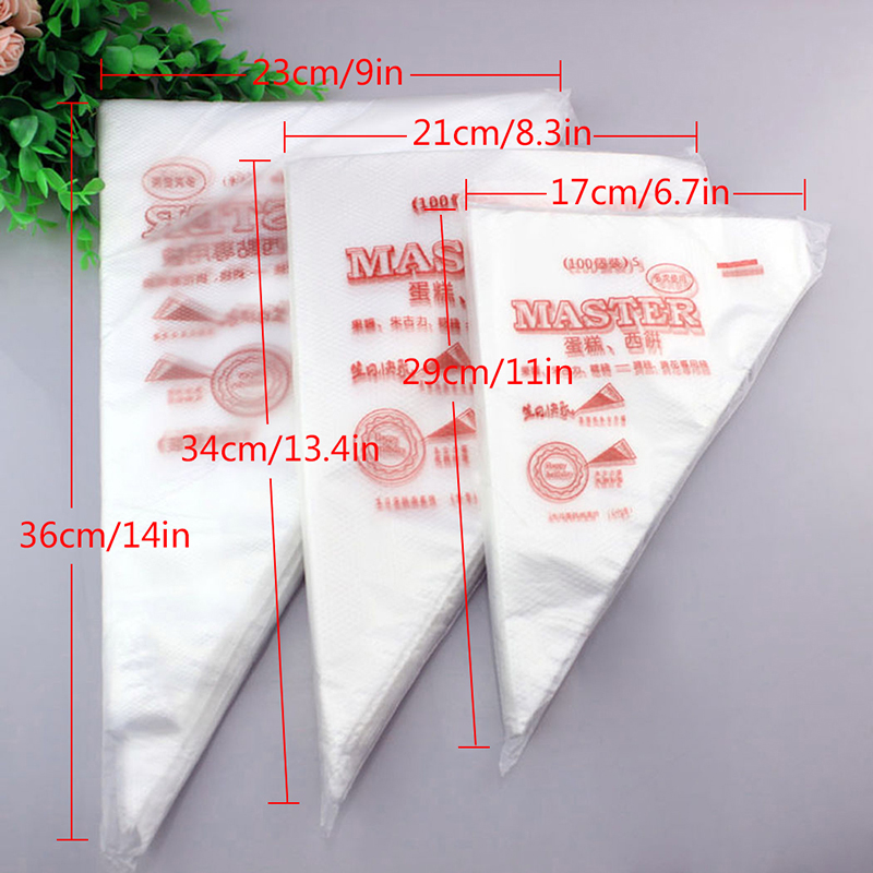 Piping-Bag Cake-Cream Baking-Tool Icing Disposable Kitchen Fondant 100pcs/Lot DIY 3-Sizes