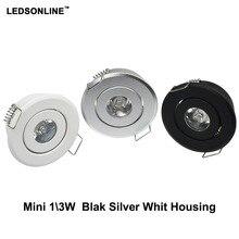 4 unids/lote 1W 3W Led downlight Led empotrado lugar del Gabinete incluye conductor Led blanco cálido naturaleza AC85 265V