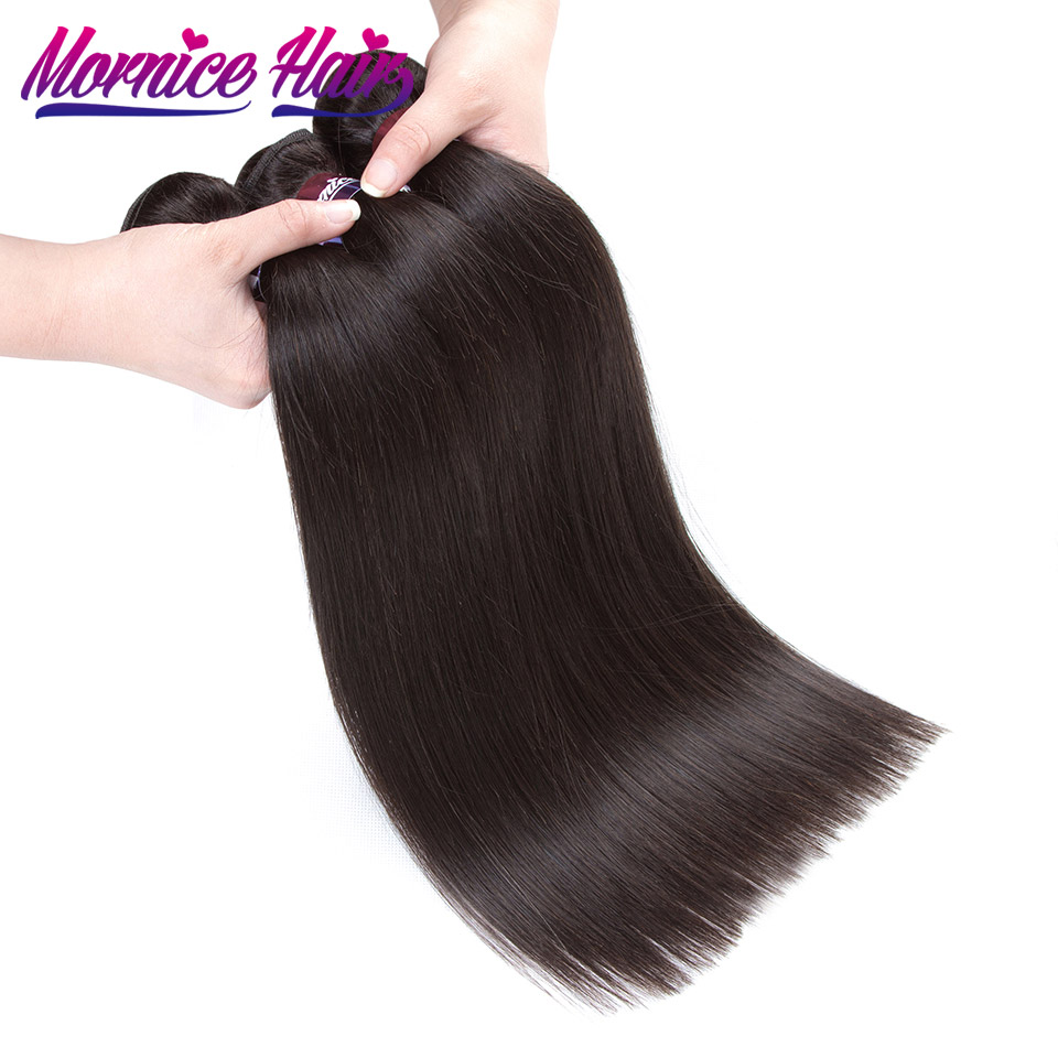 Peruvian Straight Hair Weave 3 Bundles Natural Color Hair Extension 100% Human Hair Non Remy Hair Bundles Mornice