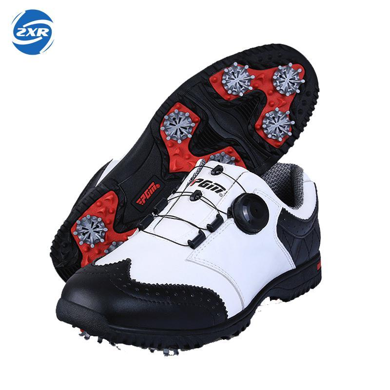 3892de377 حار نمط PGM مجسمة الطباعة حذاء جولف الذكور الراقية أحذية رياضية سوبر أحذية  مضادة للماء