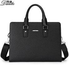 Men 100% Genuine Leather Shoulder Bag Vintage Briefcase Travel Handbag Large Capacity High Quality Business Laptop Tote Bag