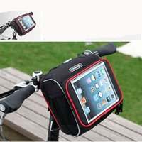 Bicycle Motorcycle Scooter Handle Bar Bag Touch Screen Cycling Pouch for IPad tablet Front Top Frame Handlebar Bag