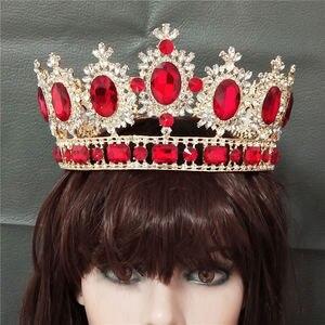 Image 2 - ขนาดใหญ่ Queen King ประกวดมงกุฎสำหรับงานแต่งงาน Tiaras และ Crowns คริสตัล Rhinestone มงกุฎเจ้าสาว Headdress เครื่องประดับผม