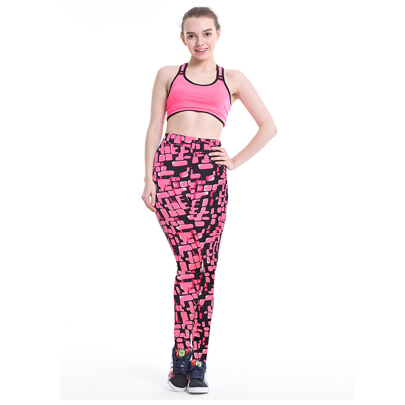 VVUES Sport Legging Pants Digital Printing Colorful High Waist High Elastic Gym Exercise Trousers Jogging Running Pants 2019 New in Yoga Pants from Sports Entertainment