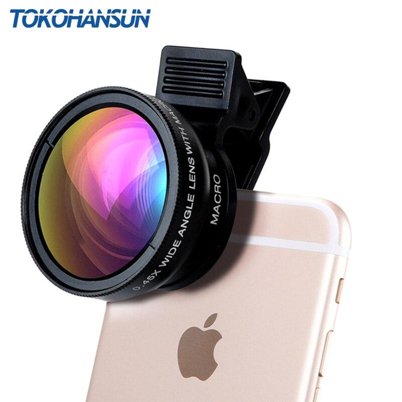 TOKOHANSUN 0.45X Wide Angle+12.5X Macro Lens Professional HD Mobile Phone
