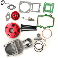 44mm Cylinder Assy Big Bore 44 6 Kit Set 2 Grooves For 47cc 49cc Mini Dirt ATV Pocket Bikes Minimoto