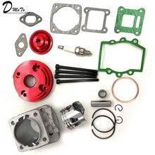44mm Cylinder Assy Big Bore 44-6  Kit Set 2 Grooves For 47cc 49cc Mini Dirt ATV Pocket Bikes Minimoto