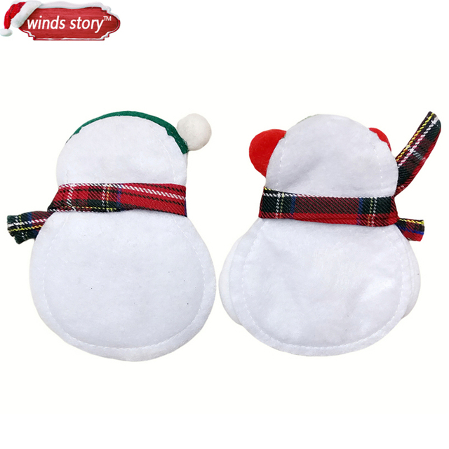 Christmas Decorations Snowman Kitchen Tableware Holder bag 12pcs Party gift Xmas ornament Christmas decorations for home table 4