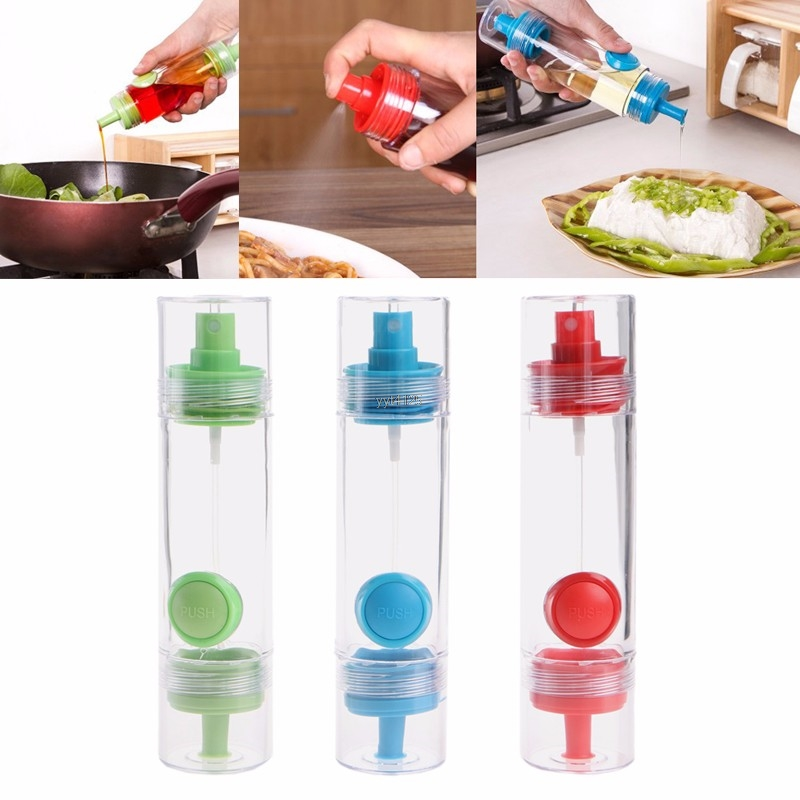Oil Vinegar Cooking Spray Dispenser Pourer Acrylic Container BBQ Pastry Cake Tool Cookware Kitchen Gadget Mar