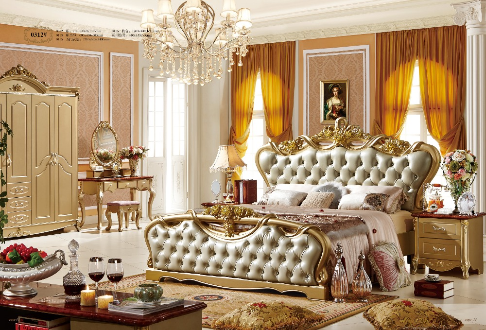 Luxury bedroom furniture set 1 8m big bed european style bedroom sets - Compare Prices On Furniture Bedroom Set Online Shopping