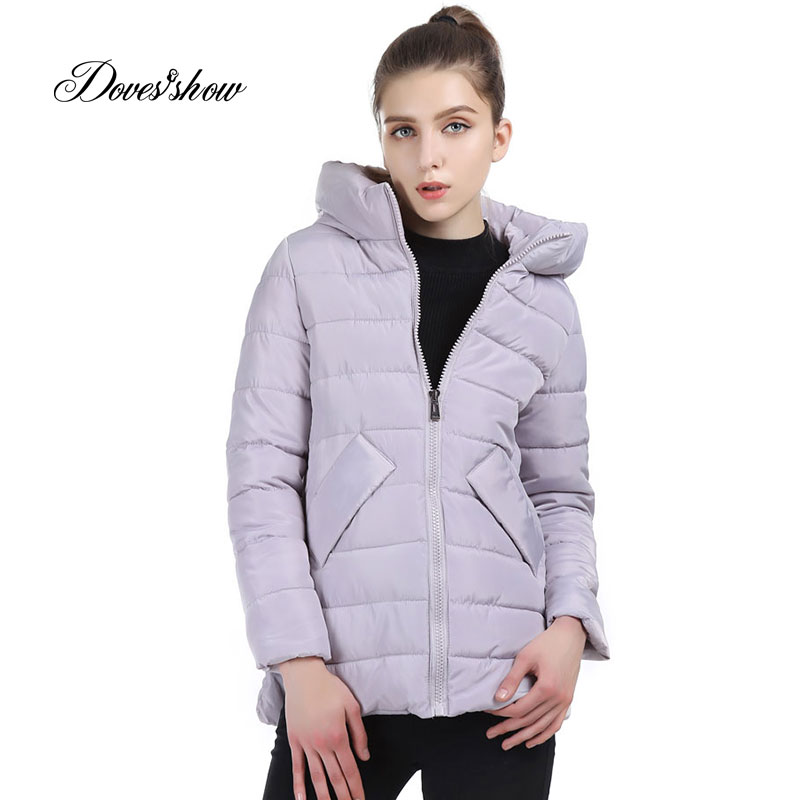 Doves Show Solid Color Long Women Winter Jacket Women Fashion Padded Coat Hooded Overcoat Women Parka Wadded Casaco Feminino XQK compatible projector lamp bulb dt01151 with housing for hitachi cp rx79 ed x26 cp rx82 cp rx93