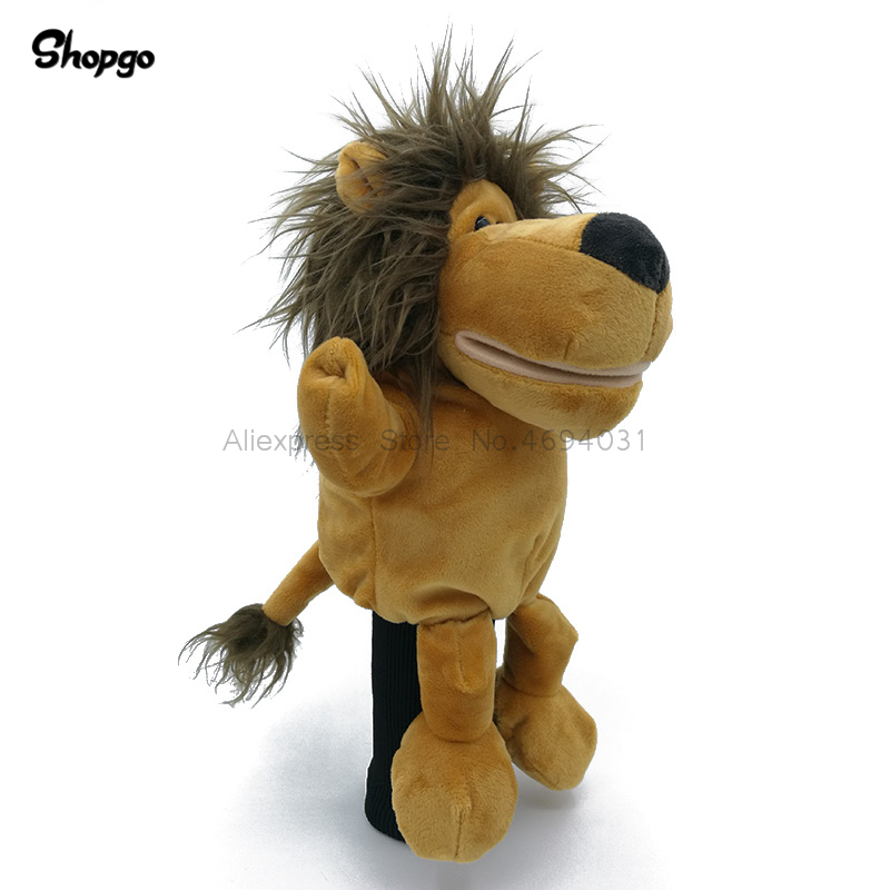 Cartoon Lion Golf Driver Headcover 460cc Animal Head Cover Golf Club Accessories 2 Colors Mascot Novelty Cute Gift