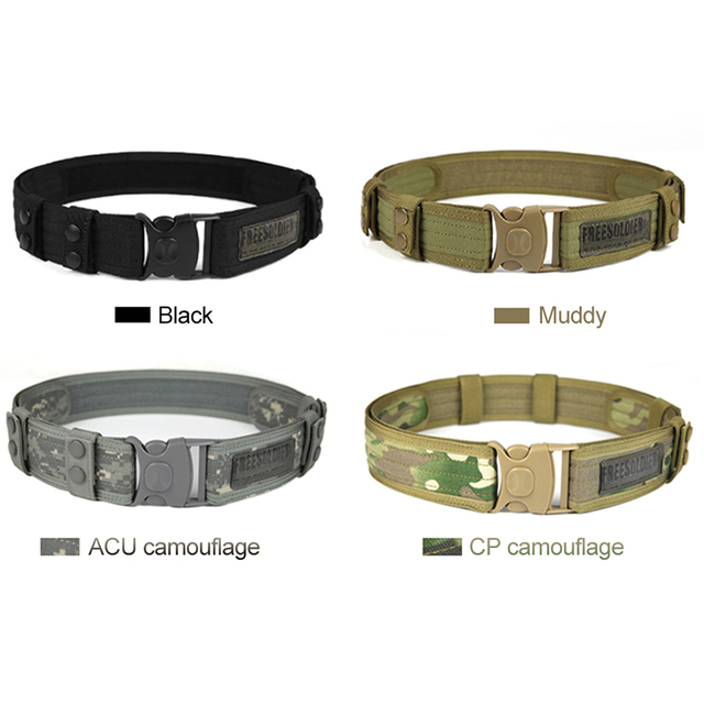 FREE SOLDIER Outdoor Sport Tactical Belt Accessories For Camping Hiking Molle Belt nylon Waist Belt For Men 2