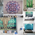 Summer hippie Mandala tapestry Beach Boho Pareo Sarong Wrap Shawl Blanket Beach Towel Tapestry Cover up 210*150 CM