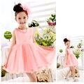 2017 Summer Children Girl Princess Dress Flower Girls Dress Lace Party Girl Dress,Kids Formal Dress free shipping L-51