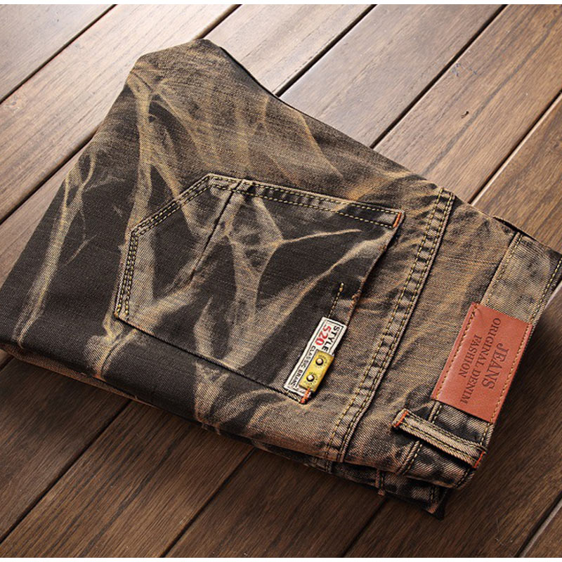 d463ffcc7b Compre MCCKLE Metrosexual Straight Jeans Hombre Retro Slim Fit ...