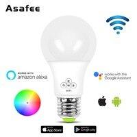 Умная лампа Wi-Fi 4,5 Вт E27 RGB цветной Диммируемый светодиодный светильник лампа Amazon Alexa Google Home IOS/Android пульт дистанционного управления светодиод...