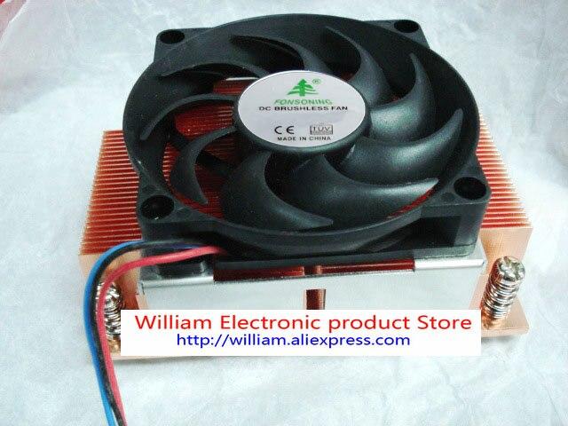 FONSONING dissipateur thermique pour INTEL 2011 aiguille tour étant soufflé 2U cuivre radiateur