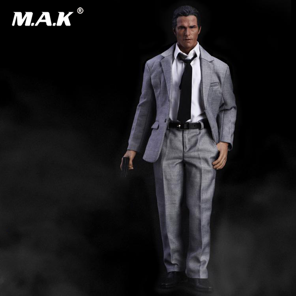 1/6 Male Figure Accessory Formal Suit Grey Color Clothes & Shoes Costume Set Model for 12Action Figure Body1/6 Male Figure Accessory Formal Suit Grey Color Clothes & Shoes Costume Set Model for 12Action Figure Body