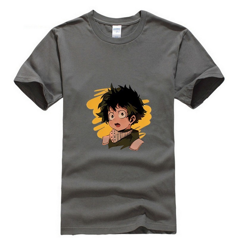 2019 new T shirt Round neck My Hero Academia Large size Japan Anime Cartoon Fashion Summer dress men tee clothing cos play Cozy in T Shirts from Men 39 s Clothing
