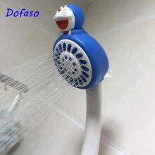 Dofaso ABS plastic Bathroom shower head Classic design Doraemon cartoon baby G1/2 rain showerhead gift for Child