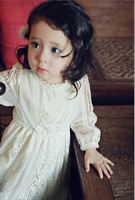 2016 Spring And Summer Princess Lace Temperament Dress Korean Quality Baby Girls Kids Clothing Free Shipping
