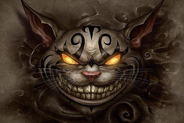 Diy Frame Alice In Wonderland Cheshire Cat Fantasy Kunstwerk Stof