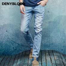 Denyblood Jeans 2017 Spring Summer Mens Bleach Stretch Denim Soft Wash Jeans Pants High qaulity trousers clothing 151093