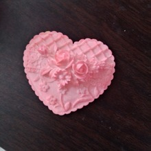 3D Rose Flower silicone resin mould Craft Heart Creative Gift Handmade Soap Making Silicone Mold Cake decoration Plaster Molds
