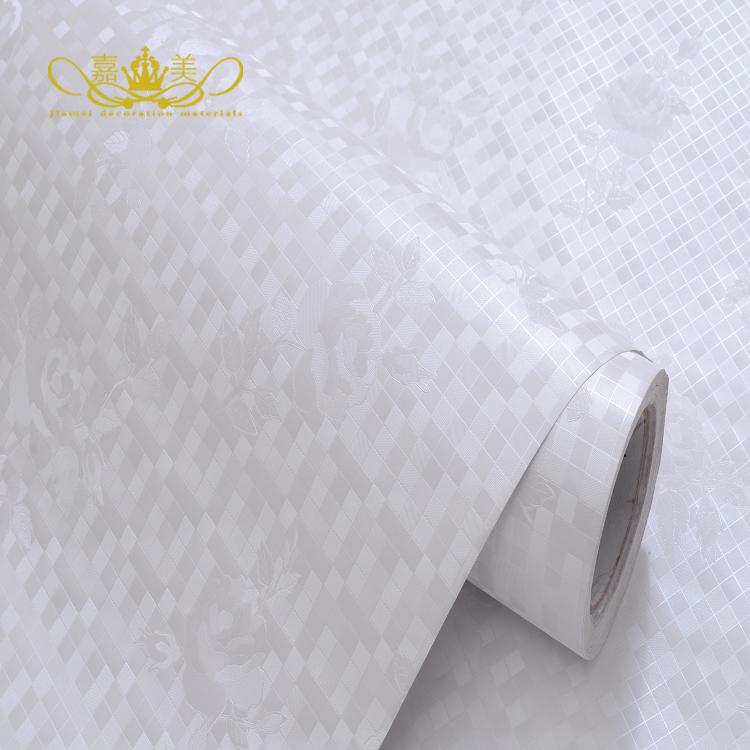 papel pintado impermeable espesado bao cocina bao blanco mosaico de azulejos blancos coreano