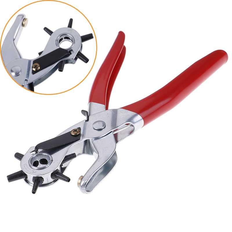 Ручные плоскогубцы 3 в 1, инструменты для кожи, инструмент для перфоратора отверстий для кожи, кожевенное ремесло, перфоратор для отверстий