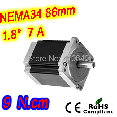 Nema 34 Stepper motor 34HS52-7004S L131 mm  with 1.8 deg stepper angle current  7 A  torque 9 N.cm and 4 wires nema 34 stepper motor 34hs59 5004s l150 mm with 1 8 deg stepper angle current 5 a torque 13n cm and 4 wires