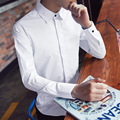 C912 Outono Dos Homens Camisa de Manga Longa de Algodão Slim Fit Manga Comprida Sólidos Camisa Homens Chemise Hommes M-3XL