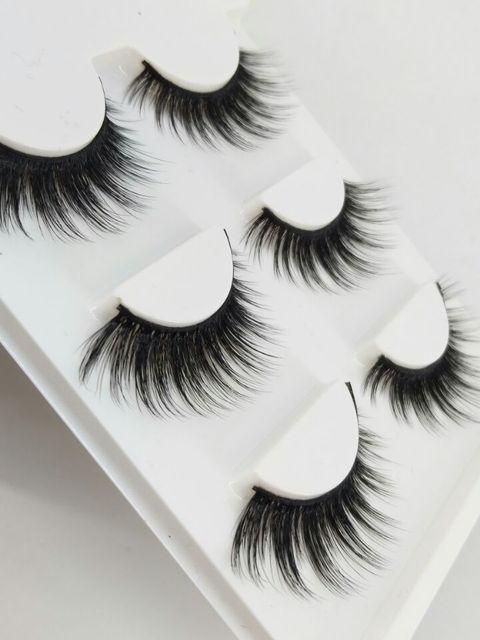 3b9a89e3825 HBZGTLAD New 3 pairs natural false eyelashes fake lashes long makeup 3d  mink lashes extension eyelash mink eyelashes for beauty