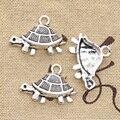 15pcs Charms Schildkröte Schildkröte Meer 19x27mm Antike Silber Farbe Überzogen Anhänger, Die DIY Handgemachten Tibetischen Silber farbe Schmuck