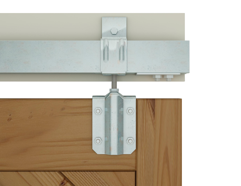 DIYHD 5FT-8FT Raw Material Galvanized Box Track Sliding Barn Door Hardware For Exterior Barn Door