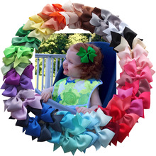 3 5 Inch Kids Hair Bow Boutique hair accessories Hairgrips hair clips Barrettes School Hair bow