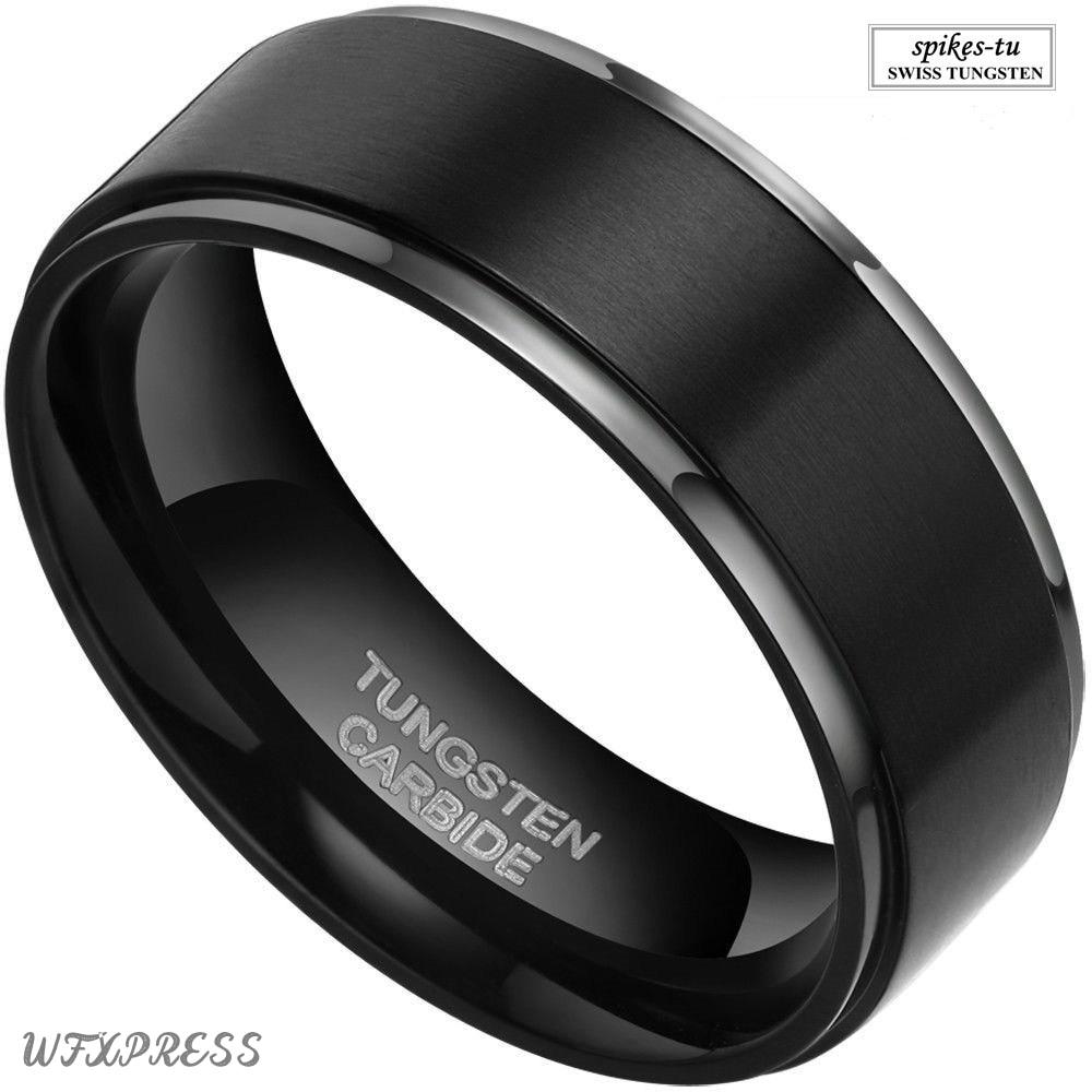 2 black mens wedding rings Camo Wedding Rings Black Titanium Wedding Bands by 1 CAMO