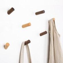 цена на Creative Natural Wood Wall Hook Wall Hanger Solid Wood Clothes Storage Rack Home Decor Hooks For Hanging Key Decorative Hooks