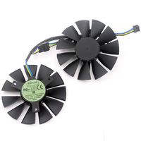 New Original Graphics Card Fan For STRIX GTX 960 750TI R9 285 FD7010H12S T128010SH