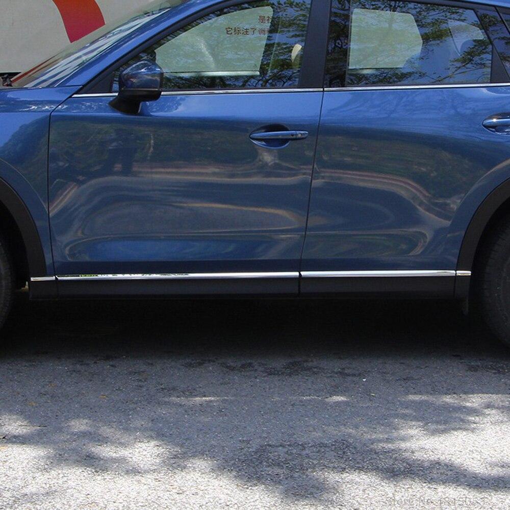 AITWATT For Mazda CX-5 CX5 2017 2018 2019 Stainless Steel Side Door Body Moulding Trim Molding Strip Liner Protector Cover 8PcsAITWATT For Mazda CX-5 CX5 2017 2018 2019 Stainless Steel Side Door Body Moulding Trim Molding Strip Liner Protector Cover 8Pcs